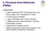 5 personal area networks pans