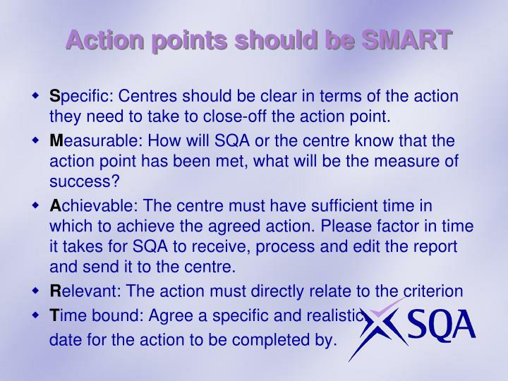 Action points should be SMART