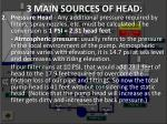 3 main sources of head2