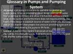 glossary in pumps and pumping system14