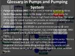 glossary in pumps and pumping system20
