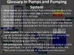glossary in pumps and pumping system21