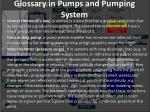 glossary in pumps and pumping system29