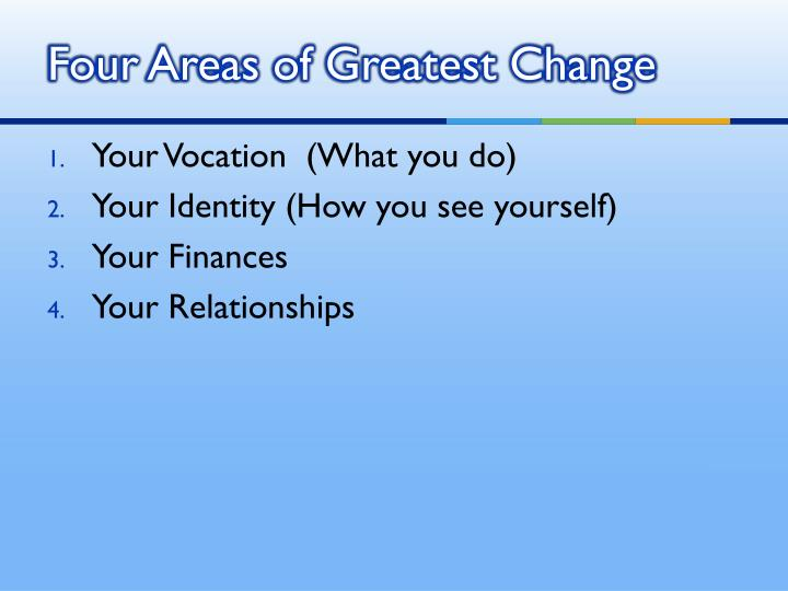 Four Areas of Greatest Change