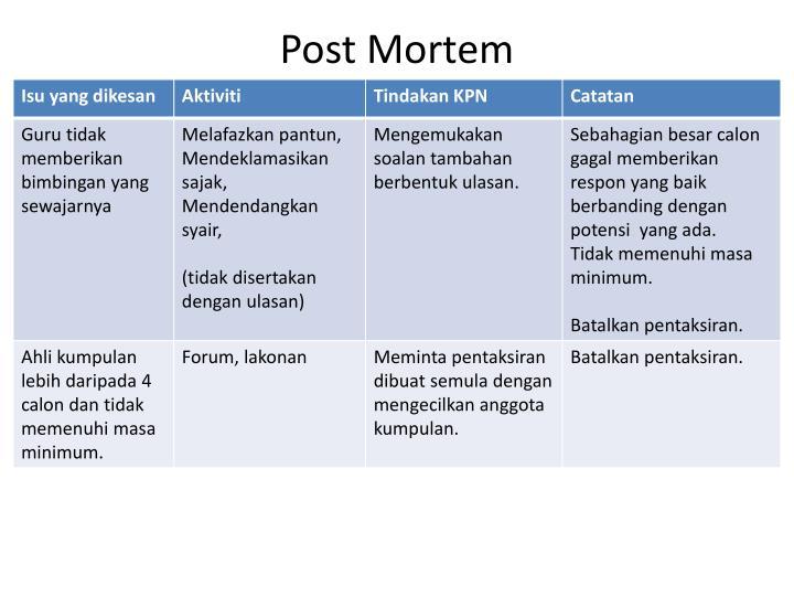 ppt - post mortem powerpoint presentation