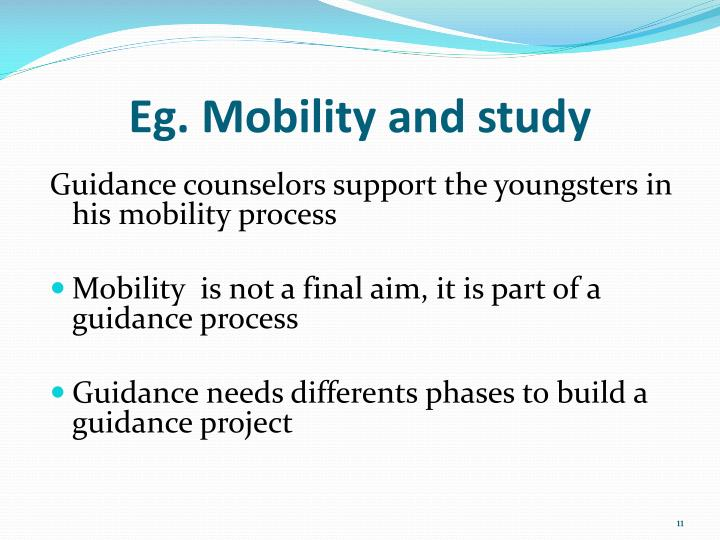 Eg. Mobility and study