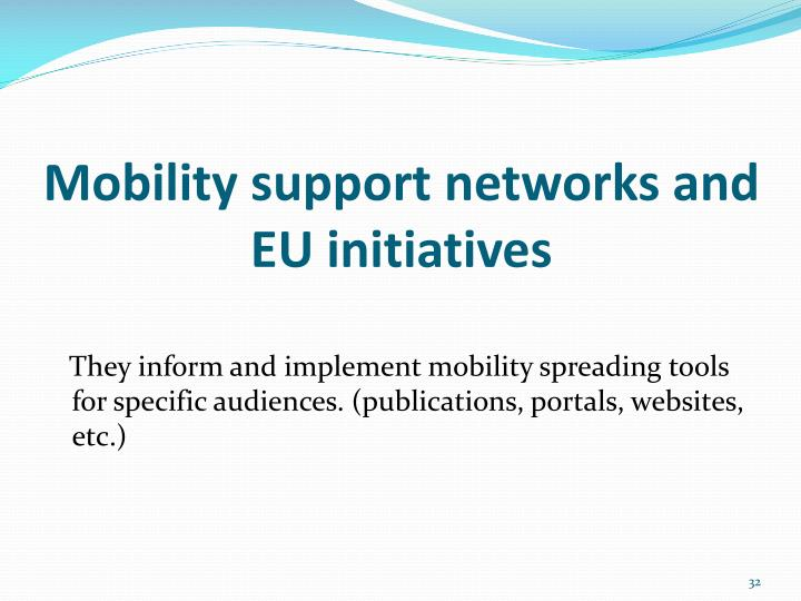 Mobility support networks and EU initiatives