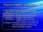 nearest neighbor recognition