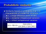 probabilistic similarity