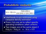 probabilistic similarity1