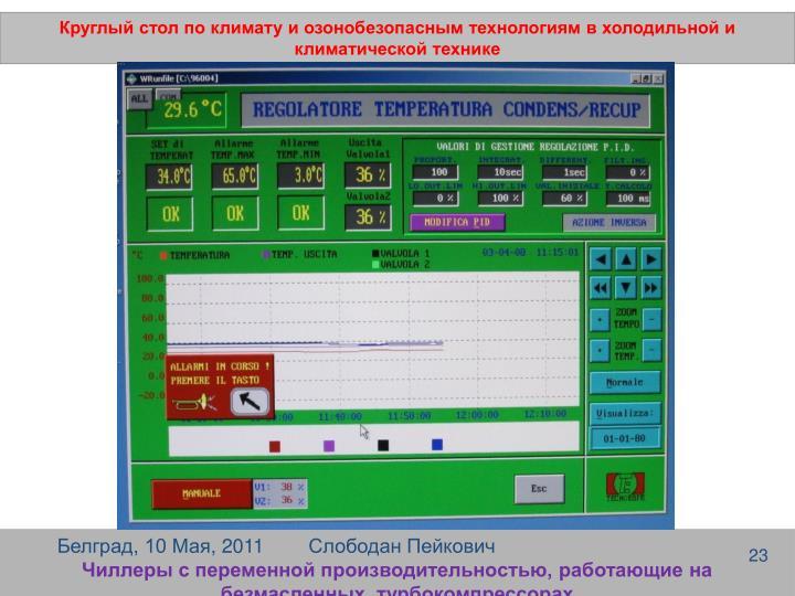 Круглый стол по климату и озонобезопасным технологиям в холодильной и климатической технике