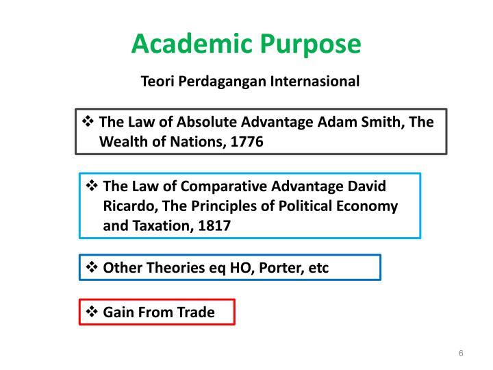 Academic Purpose