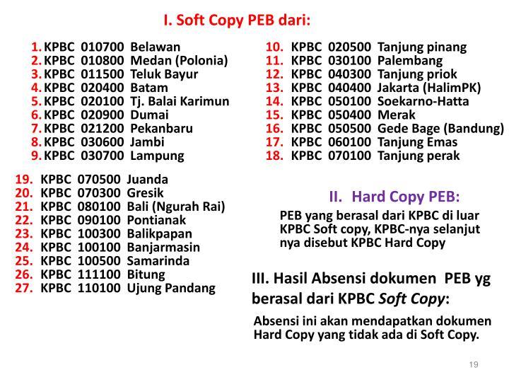 I. Soft Copy PEB