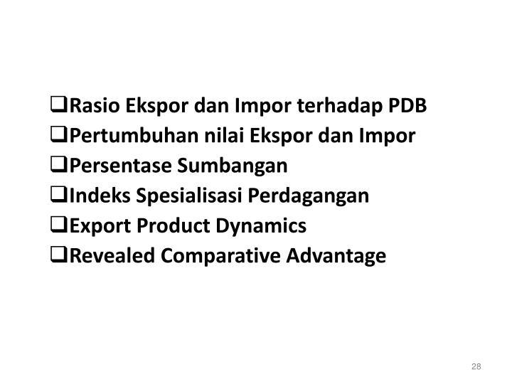 Rasio Ekspor dan Impor terhadap PDB