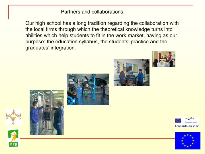 Partners and collaborations.