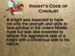 knight s code of chivalry