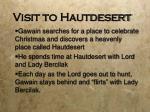 visit to hautdesert
