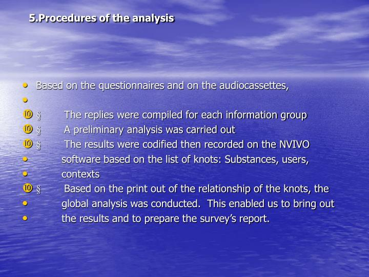 5.Procedures of the analysis