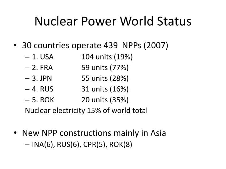 Nuclear Power World Status