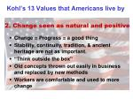 kohl s 13 values that americans live by1