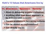 kohl s 13 values that americans live by10