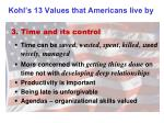 kohl s 13 values that americans live by2