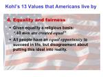 kohl s 13 values that americans live by3