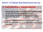kohl s 13 values that americans live by4