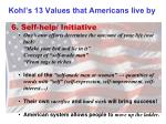 kohl s 13 values that americans live by5