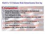kohl s 13 values that americans live by6