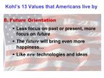 kohl s 13 values that americans live by7