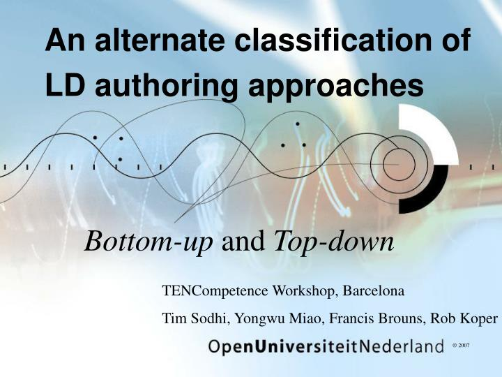an alternate classification of ld authoring approaches
