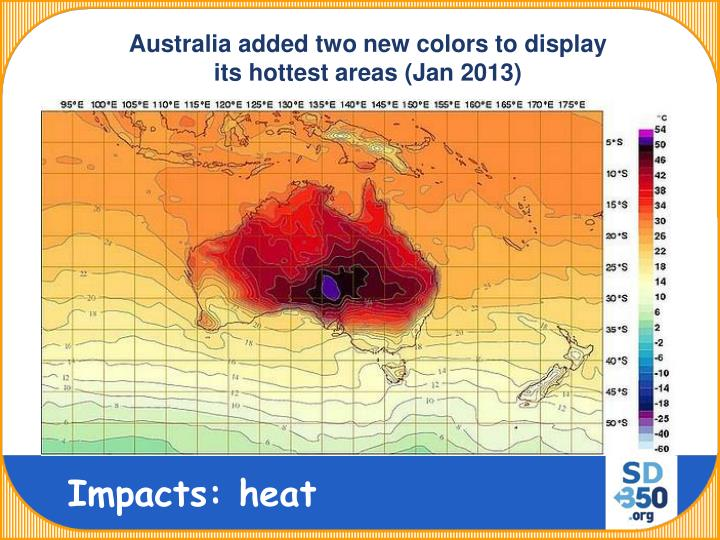 Australia added two new colors to display