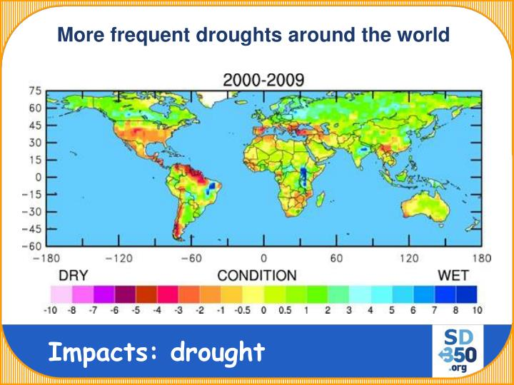 More frequent droughts around the world