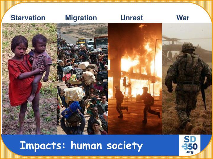 Starvation          Migration            Unrest                 War