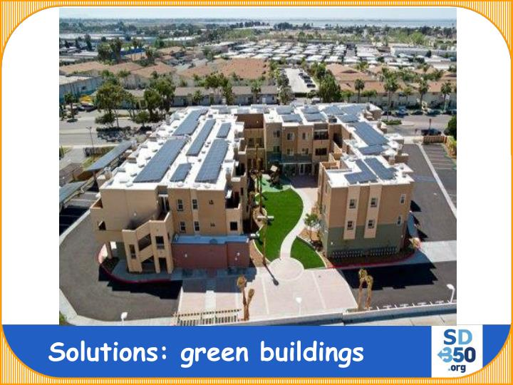 Solutions: green buildings