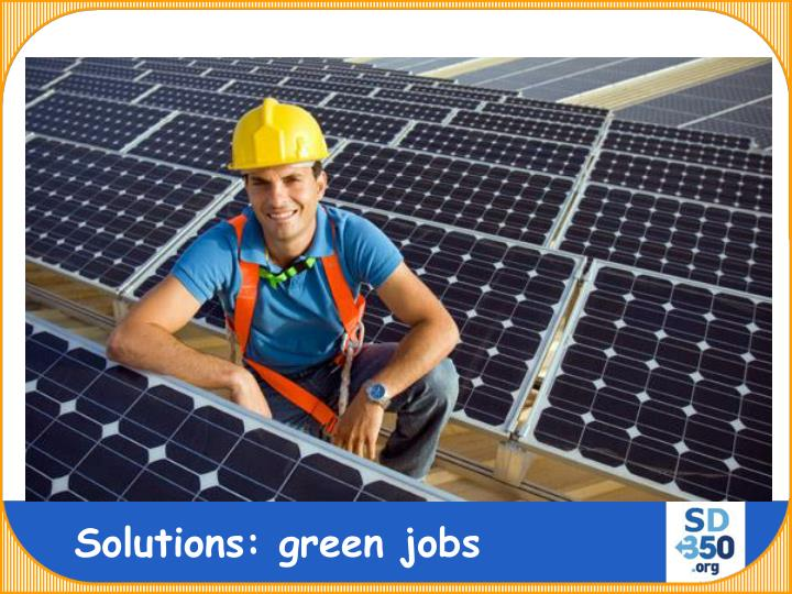 Solutions: green jobs