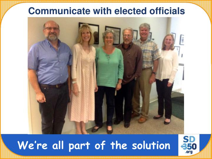 Communicate with elected officials