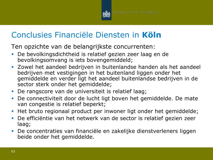 Conclusies Financiële Diensten in