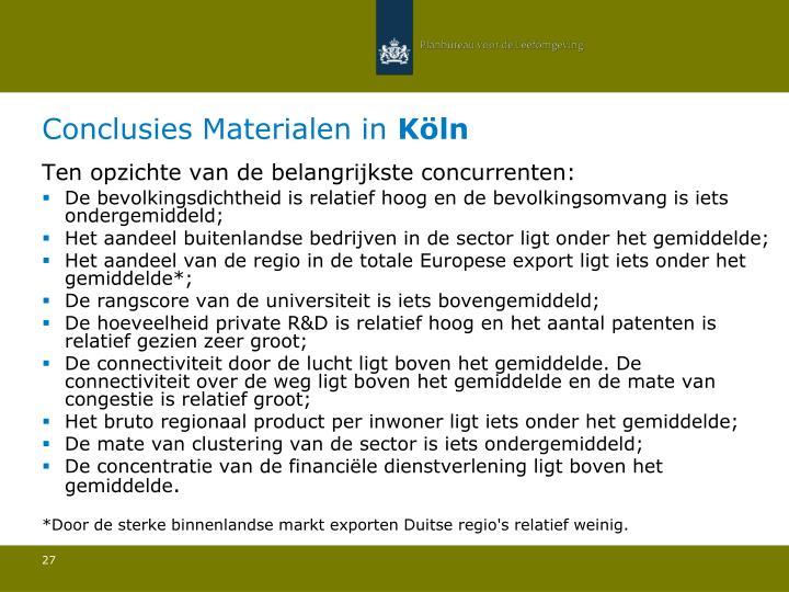 Conclusies Materialen in
