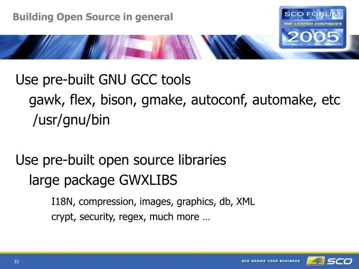 Building Open Source in general
