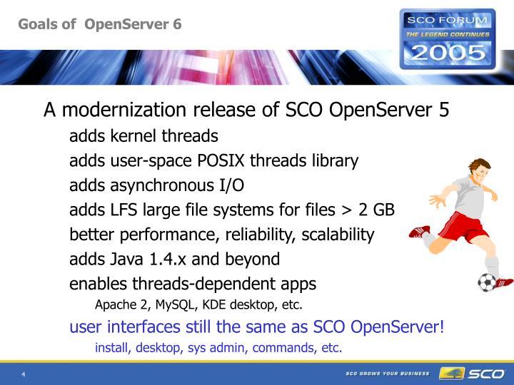 Goals of  OpenServer 6