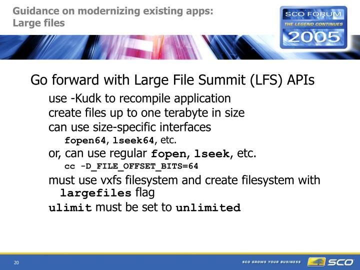 Guidance on modernizing existing apps: