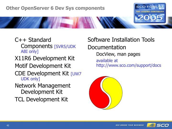 C++ Standard Components