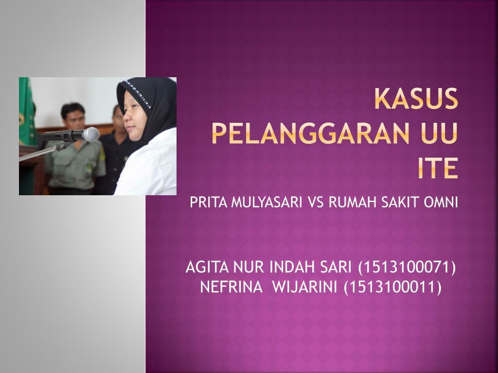 Ppt Kasus Pelanggaran Uu Ite Powerpoint Presentation Free Download Id 5067981