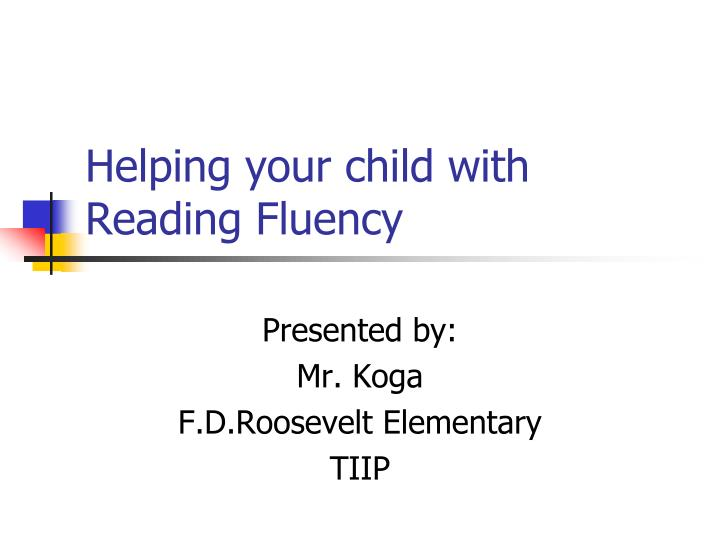 helping your child with reading fluency n.