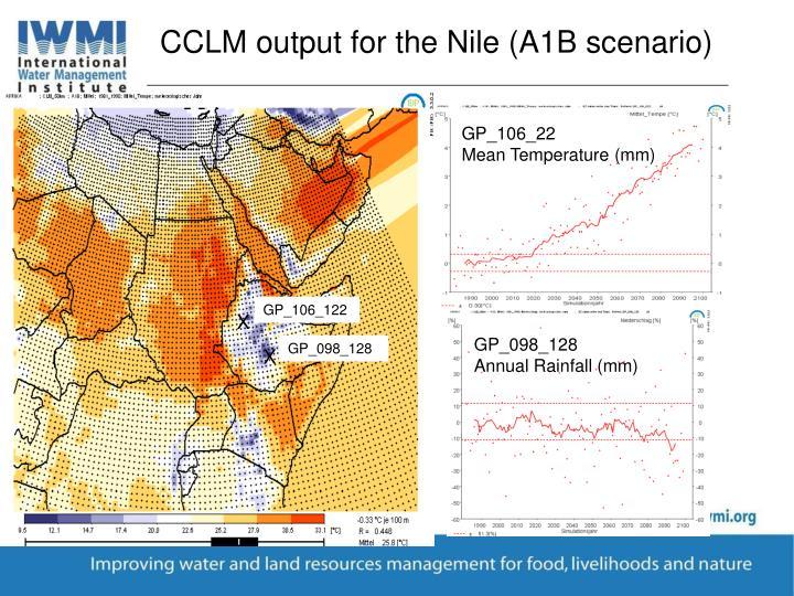 CCLM output for the Nile (A1B scenario)