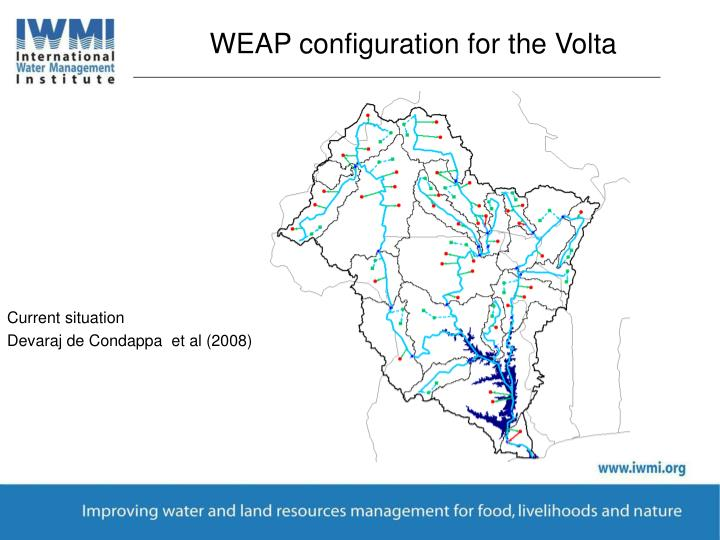 WEAP configuration for the Volta