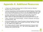 appendix a additional resources