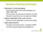hardware hacking challenges